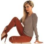 Trendy oranžové džíny