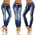 Fashion jeans s módním páskem
