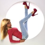 Módní světlé džíny