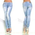 Fashion jeansy s cvočky
