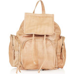 Topshop Premium Leather Backpack
