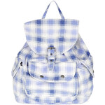 Topshop Check Print Backpack