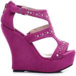 KOI Sandály s cvoky fialové