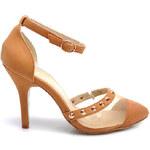 COMER Síťované sandálky zdobené cvočky