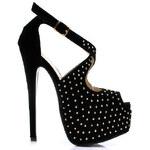 KOI Exklusivní sandále černé