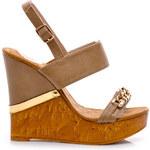 SERGIO TODZI Lehké sandálky na klínu