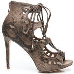 Belle Women Šněrovací sandálky na podpatku