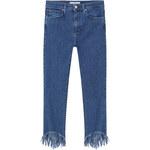 MANGO Skinny Jeans In 7/8-Länge Fringed