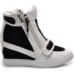 Chic & Swag Stylové tenisky bílo černé