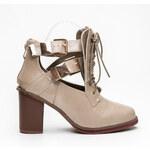 Belle Women Rockové boty s výřezy