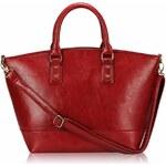 LS fashion Luxusní dámská červená fashion kabelka