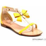 VERA BLUM Sandálky s mašličkou žluté