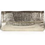 Nancy Gonzalez Fold-Over Crocodile Clutch