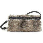 Tamaris - Originální dámská kabelka jako rukávník s chlupem MATILDA Muff / mnohobarevná (taupe)