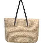 Lesara Strandtasche im Flecht-Design - Beige