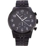Černé pánské klasické hodinky z nerezové oceli Fossil