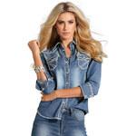 ARIZONA Džínová košile, Arizona modrá obnošená - Normální délka (N)