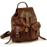 Hamosons Kožený batoh z hovězí kůže 559 hnědý