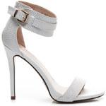 producent niezdefiniowany Romantické bílé sandály s hadím vzorem, vel. 40