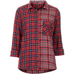 Topshop Red Mix And Match Check Shirt
