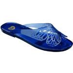 Dámské modré žabky s motýlkem Mel