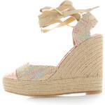 Vanessa Wu Vícebarevné platformové sandály Presta