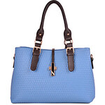 LightInTheBox Beini Women's Vintage Simplicity Embossing Cross Tote(Light Blue)