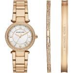 Michael Kors Montres, Delray Round Gold-Tone Bracelet Watch en or