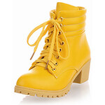LightInTheBox Leatherette Chunky Heel Ankle Boots With Lace-up Party / Evening Shoes (More Colors)