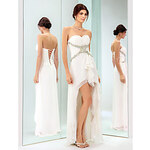 LightInTheBox Free Measurements ! Sheath/Column Sweetheart Asymmetrical Chiffon Cocktail Dress