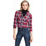 H&M Kostkovaná bavlněná košile