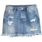 H&M Obnošená džínová sukně