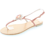 Belle Women Růžovo-zlaté sandály Zuzia