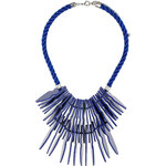 Topshop Blue Arrow Rope Necklace
