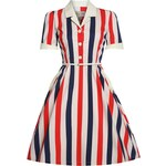 Retro šaty Lindy Bop Brigitte Paris Stripe
