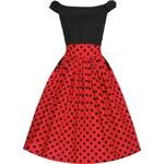 Retro šaty Lindy Bop Carla Black Red Polka 48