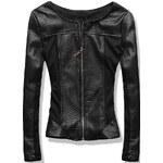 Černé koženkové sako G112