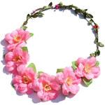 Květinová čelenka do vlasů světle růžová C58937