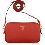 Prada Tasche - Contenitore Tracolla Saffiano Red - in rot - Umhängetasche für Damen