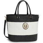 LS fashion dámská kabelka LS00406A černá-bílá