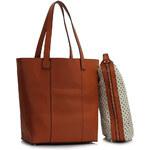 LS fashion dámská kabelka přes rameno LS00467 hnědá