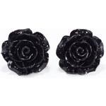 Náušnice Anglická růže černé