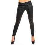 Sublevel Dámské kalhoty s imitací koženky Sublevel - černé
