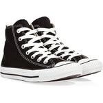 Converse Canvas Chuck Taylor All Star Hi Sneakers in Black