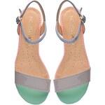 Kabelkový Slon Dámské kožené lesklé sandále VALENTINA