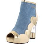 El Dantes Kotníčkové boty na podpatku D16183-44_JEANS & GOLD