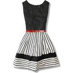 Kleid schwarz weiß SUKP01