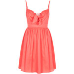 Topshop **Coral Tie Front Babydoll Dress by Annie Greenabelle
