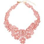 ASOS Faux Pearl Bib Choker Necklace - Pink