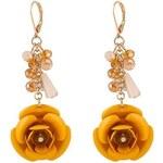 Náušnice Rose žluté C59656